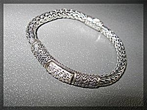 Sterling Silver Pave CZ Diamond  Bracelet  (Image1)