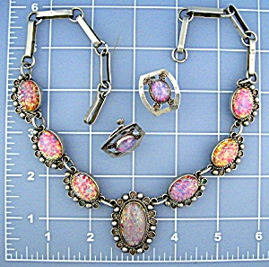 Necklace & EarringsTaxco Mexico Sterling Silver Opal   (Image1)