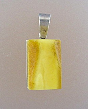 Sterling Silver Butterscotch Amber Pendant (Image1)