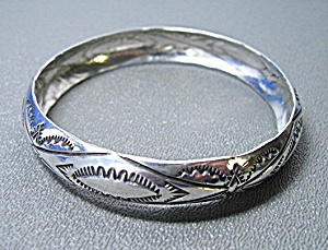 Sterling Silver Hand Made American Indian Bangle