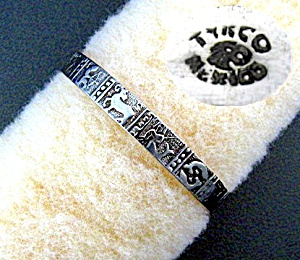BraceletTaxco Mexico Sterling Silver ZODIAC Bangle (Image1)
