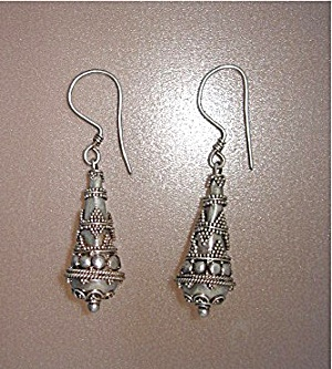 Sterling Silver Balinese Pierced Earrings (Image1)