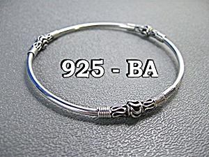 3 Sterling Silver Bangle Bali Bracelets (Image1)