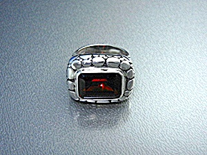 Garnet & Dot Sterling Silver Designer Look Ring (Image1)