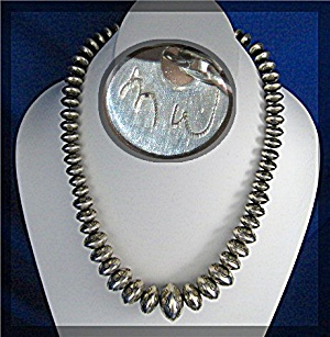 Native American Martha Willeto Sterling Silver Beads