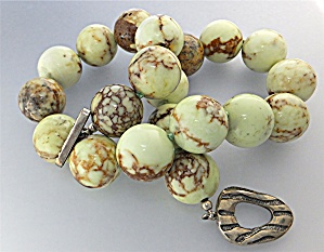 Necklace Chryspress Hand Knotted Beads Sterling Silver  (Image1)