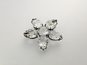 Brooch Pin Sterling Silver Paste Flower