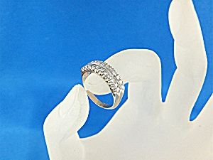 Ring 14K White Gold 22 Diamonds Anniversary Band (Image1)