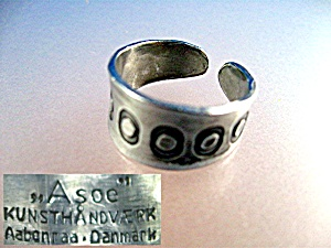 Sterling Silver Ring A soe Denmark Signed (Image1)