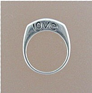 Sterling Silver LOVE Signed Ring (Image1)