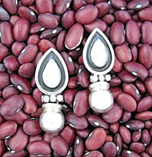 Sterling Silver Mexico Drop Ball Pierced  Earrings (Image1)
