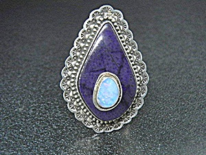 David Troutman Opal Sugulite Sterling Silver Ring