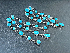 Native American Sleeping Beauty Turquoise Sterling Silv