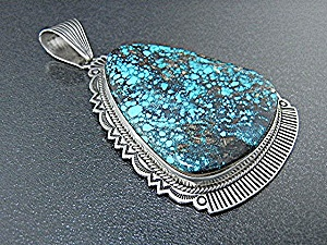 Native American Sterling Silver Turquoise A. Jake Penda