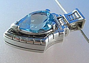 JOHN ATENCIO Sterling Silver Blue Topaz Necklace (Image1)