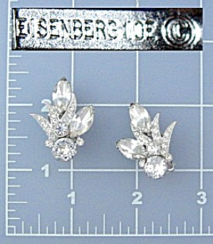 Eisenberg Ice Crystal Clip Earrings