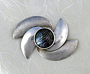 Sterling Silver Mabe Pearl SUSAN MARIA Brooch (Image1)