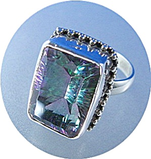 Sterling Silver Mystic Topaz Ring (Image1)