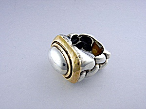 Ring 14k Gold Sterling Silver Dian Malouf Of Dallas