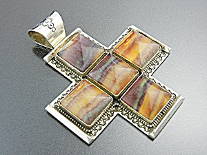 David Troutman &  Gundi Florite Sterling Silver Cross  (Image1)