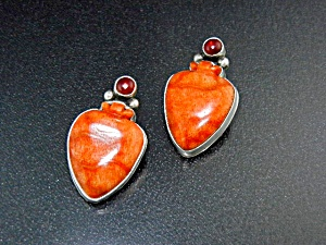 David Troutman Gundi Apple Coral Sterling Silver Clip (Image1)