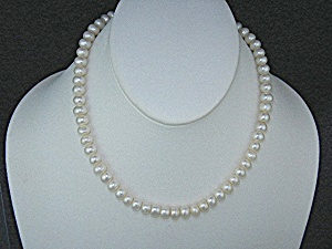 Freshwater Pearl Necklace Silver Clasp 16 Inch