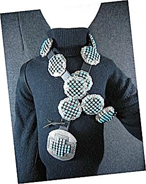 Navajo Sleeping Beauty Turquoise Sterling Silver Belt  (Image1)