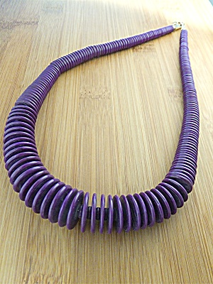 Necklace Sugilite Africa Graduated Beads  (Image1)