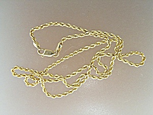 Necklace 14K Gold Rope Chain USA (Image1)