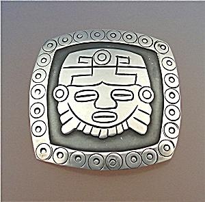 Brooch LOS BALLESTEROS Aztec Face Mexico (Image1)