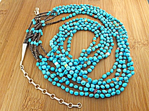 Necklace Santo Domingo 5 StandTurquoise Heishi  (Image1)