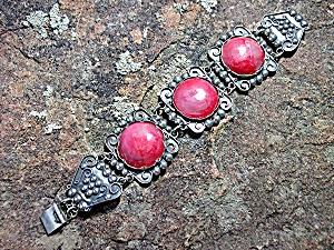 Bracelet Silver Rose Quartz Mexico  (Image1)