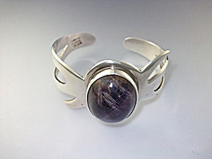 Bracelet Sterling Silver Amethyst Taxco Mexico Eagle 3 (Image1)