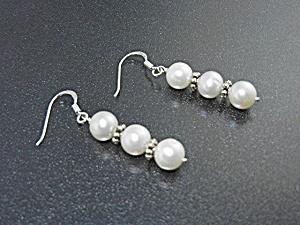 Freshwater Pearls Sterling Silver Shepherd Hook Earring (Image1)