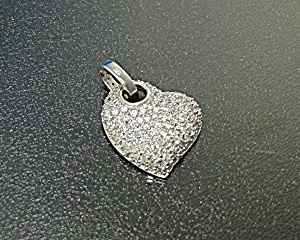 Pendant Sterling Silver Pave Cz Heart