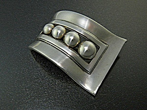 Brooch Pin Sterling Silver Signed BL Taxco Mexico (Image1)