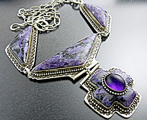 David Troutman Russian Charoite Amethyst Sterling Silve (Image1)