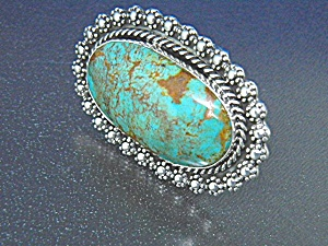 Navajo Kingman Turquoise Sterling Silver Ring Begay