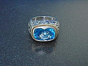 Effy Sterling Silver Blue Topaz Ring (Image1)
