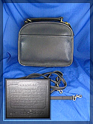 Bag Coach Usa Black Leather Vintage Lunch Box