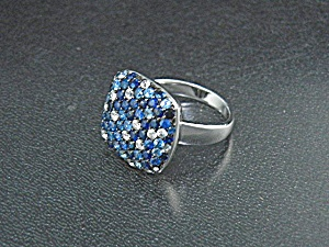 Effy Diamond Sapphire And Sterling Silver Ring