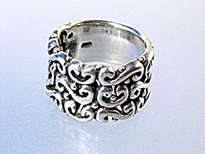 Sterling Silver Scrolled Band Ring (Image1)
