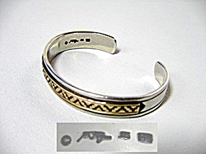 14k Gold Sterling Silver Melvin Nesuse Cuff