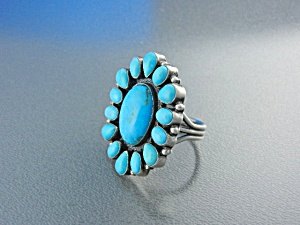 Native American KIRK SMITH Turquoise Sterling Silver R (Image1)