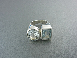 Starborn Creations Blue Topaz Crystal Sterling Silver