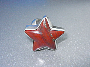 Charles Albert Jasper Sterling Silver Star Ring