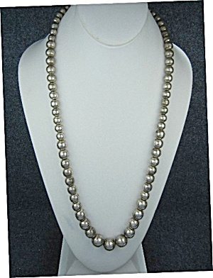 Taxco Mexico Sterling Silver 30 Inch Necklace Td 29