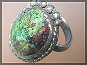Sterling Silver Green Turquoise William Vandever Ring