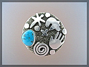ALEX SANCHEZ Sterling Silver Turquoise Ring (Image1)
