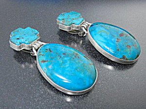 David Troutman Kingman Turquoise Sterling Silver Earri